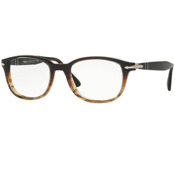 6dc8ecf65e0b1 Persol Eyeglasses Brown Tortoise w Demo Lens